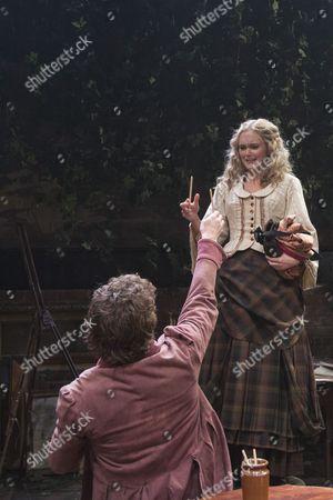 Stock Image of Tom Bateman as Dante Gabriel Rossetti and Jayne Wisener as Annie Miller