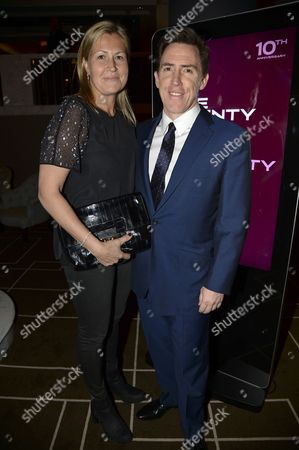 Stock Picture of Claire Holland and Rob Brydon