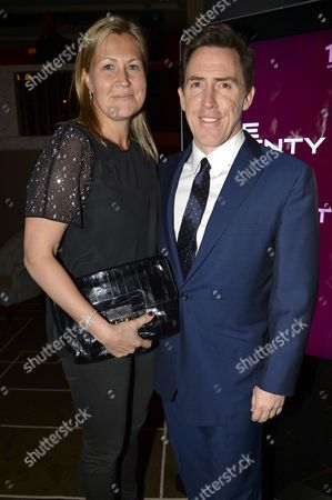 Claire Holland and Rob Brydon