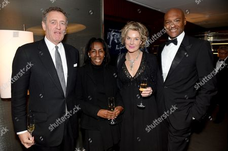 Andrew Roberts, Theresa Roberts, Fiona Hawthorne and Colin Salmon
