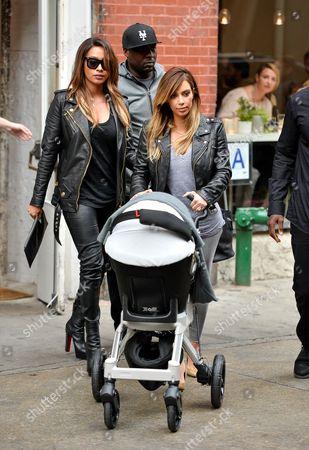 Kim Kardashian West, North West and La La Anthony