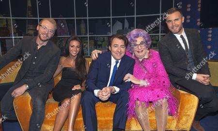 Simon Pegg, Michelle Keegan, Jonathan Ross, Dame Edna Everage and Gary Barlow
