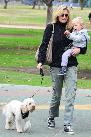 Penny Lancaster with Aiden Stewart