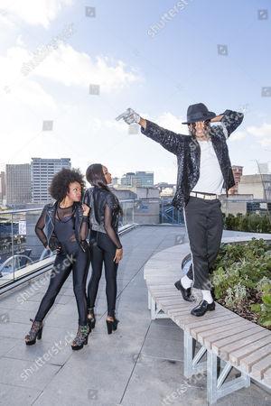 Cleo Higgins, Rachel Adedeji, and Dak as Michael Jackson