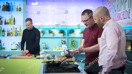 Sean Lock with Tim Lovejoy and Simon Rimmer