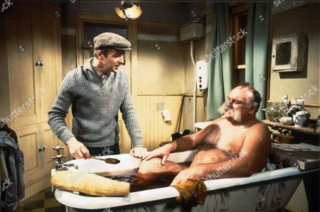 Stock Image of IAN LAVENDER AND JIMMY EDWARDS IN THE TV PROGRAMME THE GLUMS 1979