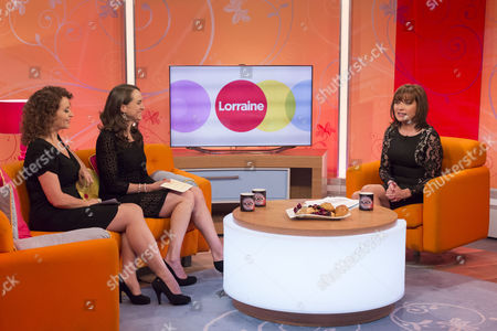 Nadia Sawalha and Jane Wake with Lorraine Kelly