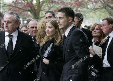 Pat Lampard Funeral. Frank Lampard And Family (dad Frank Lampard Snr. And Girlfriend) At St Margaret's Church In Barking With The Redknapp Family Pictured Behind At His Mother Pat's Funeral.