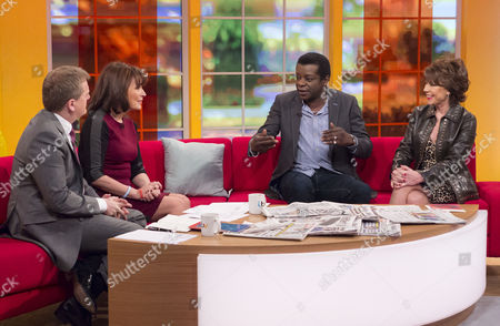 Aled Jones and Lorraine Kelly with Stephen K Amos and Kathy Lette