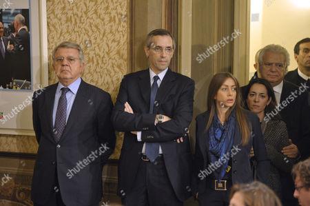 Silvio Berlusconi's lawyers Pietro Longo, Niccolo Ghedini with Maria Rosaria Rossi and Denis Verdini