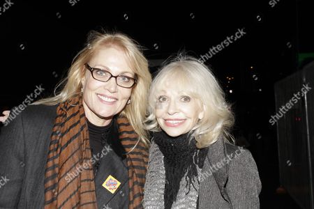 Stock Image of Katy Manning and Daphne Ashbrook arriving for the Dr Who 50th Anniversary Party