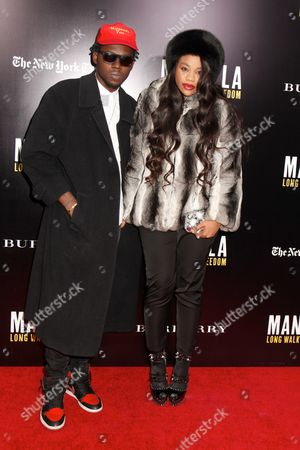 Stock Picture of Theophilus London and Kimberly Nstemi