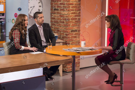 Martel Maxwell and Mehdi Hasan with Lorraine Kelly