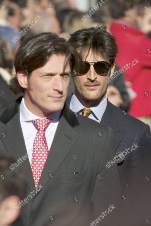 Stock Photo of Rafael de Medina, 20th Duke of Feria and brother Luis de Medina