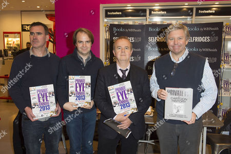 Editorial picture of 'Private Eye' team photocall to launch Annual and 'A Cartoon History' at Selfridges, London, Britain - 26 Nov 2013