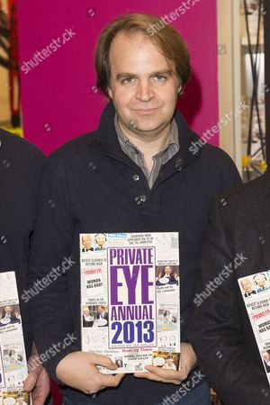 Editorial photo of 'Private Eye' team photocall to launch Annual and 'A Cartoon History' at Selfridges, London, Britain - 26 Nov 2013