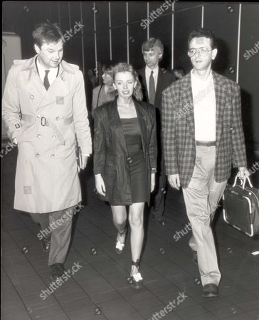 Editorial picture of Australian Pop Star Kylie Minogue Arriving At Heathrow Airport From Hong Kong.