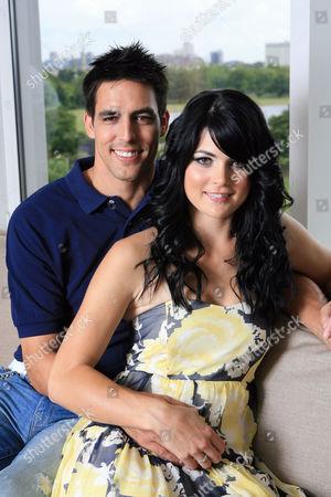 Mitchell Johnson and wife Jessica Bratich Johnson