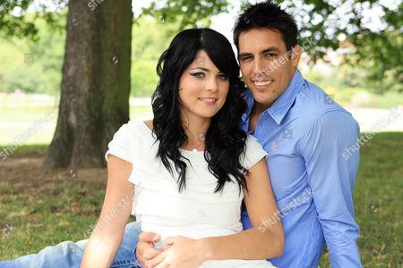 Stock Image of Mitchell Johnson and wife Jessica Bratich Johnson