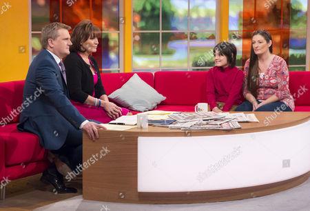 Aled Jones and Lorraine Kelly with Fynnjan Leach-Verhoeven and Su (mum)