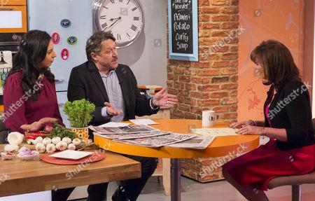 Aasmah Mir and Robert Crampton with Lorraine Kelly