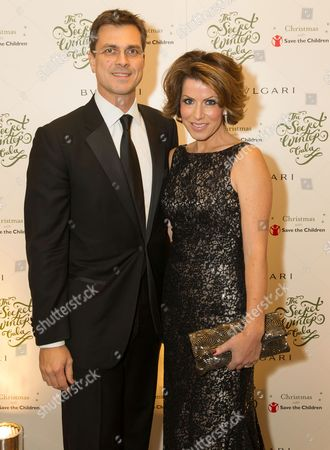 Save the Children Ambassador Natasha Kaplinsky with her husband Justin Bower