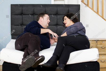 Stock Picture of Johnny Vegas and Loen Love