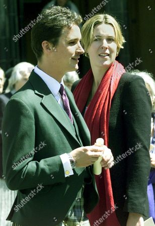 TORQUIL CAMPBELL, SON OF THE LATE DUKE AND NOW THE 13TH DUKE OF ARGYLL, WITH FRIEND ELEANOR CADBURY