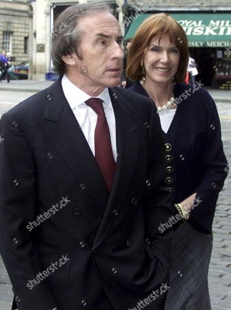 Sir Jackie Stewart WITH HIS WIFE HELEN.