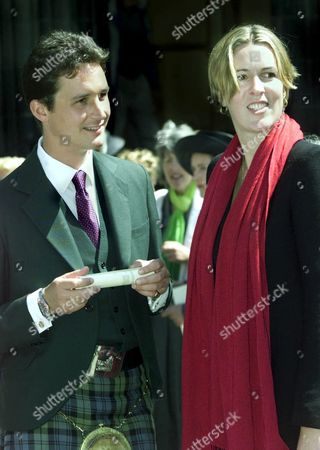 TORQUIL CAMPBELL, SON OF THE LATE DUKE AND NOW THE 13TH DUKE OF ARGYLL, WITH FRIEND ELEANOR CADBURY.