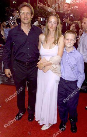 Sam Robards, wife Myrna & son Jasper