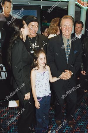ANGELINA JOLIE AND BILLY BOB THORNTON WITH ANGELINA'S FATHER JON VOIGHT AND RACHEL APPLETON, DAUGHTER OF NATALIE