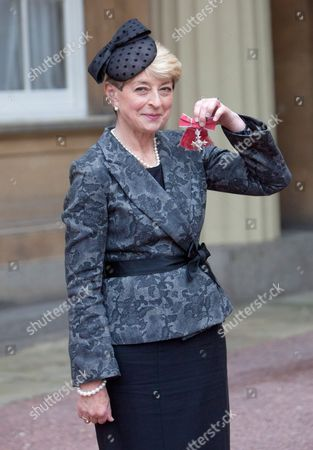 Stock Picture of Broadcaster Kay Alexander with her MBE