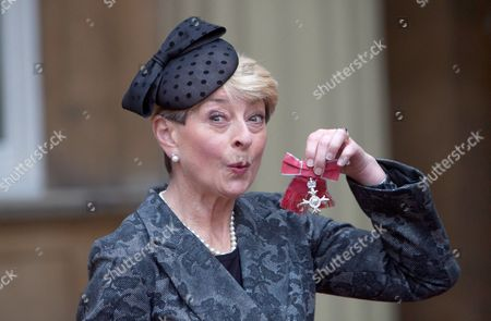 Broadcaster Kay Alexander with her MBE