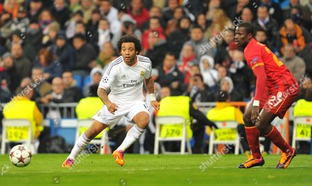 Marcelo Vieira (Real Madrid) - Emmanuel Eboue (Galatasaray)