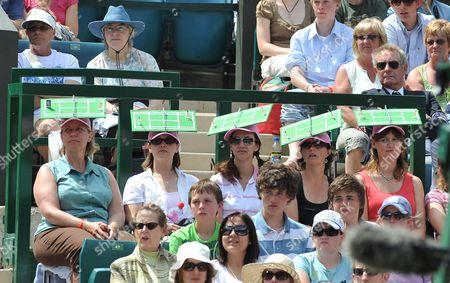 Tennis Fans Watch Ann Keothavong V Venus Williams Wimbledon Tennis Championships 2008 Day Four.
