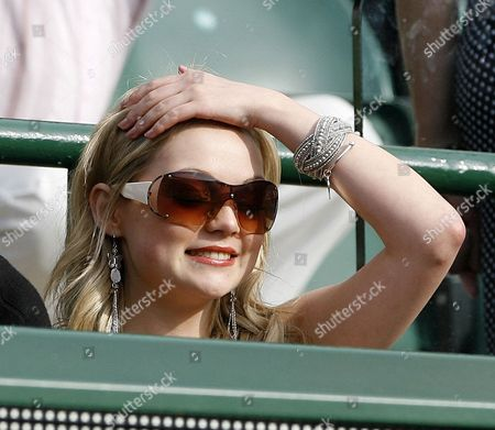 Chris Eaton V Tursanov Wimbledon Tennis Championships 2008 Day Four 26/6/2008 Chris Eaton Girlfriend Emma Cowles.