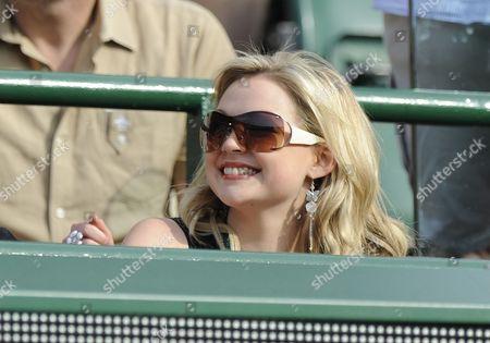 Wimbledon Tennis Championships 2008 Day Four 26/6/2008 Chris Eaton Girlfriend Emma Cowles Chris Eaton V Tursanov.