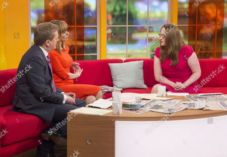 Aled Jones and Kate Garraway with Claire Rayner