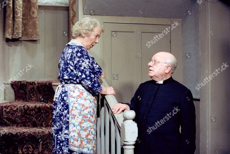 GABRILLE DAYE AND ARTHUR LOWE ON 'BLESS ME FATHER' MAY. 1979