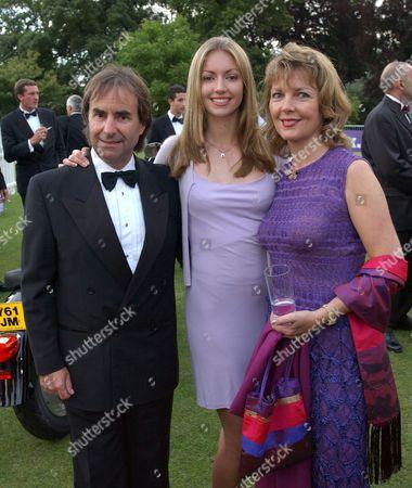 Stock Photo of CHRIS DE BURGH WITH HIS DAUGHTER ROSANNA DAVISON AND WIFE DIANE