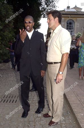 ERIQ LA SALLE WITH WALDO SANCHEZ (A STYLIST WHO HAS WORKED WITH GEORGE CLOONEY)