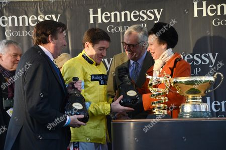 Nicky Henderson, Barry Geraghty, Maurice-Richard Hennessy and Princess Anne