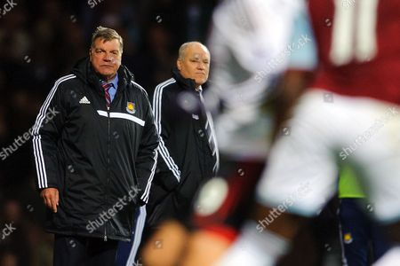 West Ham United manager Sam Allardyce and Fulham manager Martin Jol