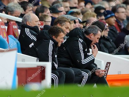 Fulham manager Martin Jol with Rene Meulensteen