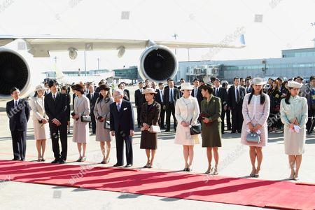 Crown Prince Naruhito, Crown Princess Masako, Prince Akishino, Princess Akishino, Princess Mako, Prince Hitachi, Princess Hitachi, Princess Yoko, Princess Takamado, Princess Tsuguko, Princess Noriko