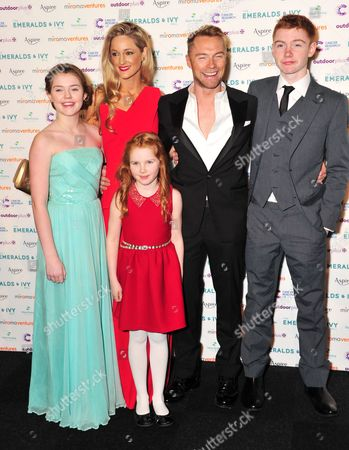 Storm Uechtritz and Ronan Keating with children Jack Keating, Marie Keating and Ali Keating