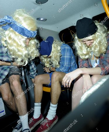 Stock Picture of Nick Grimshaw, Harry Styles and Gillian Orr