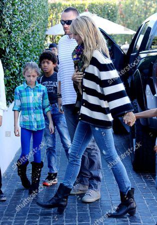 Heidi Klum and Martin Kristen with Henry Samuel and Leni Samuel