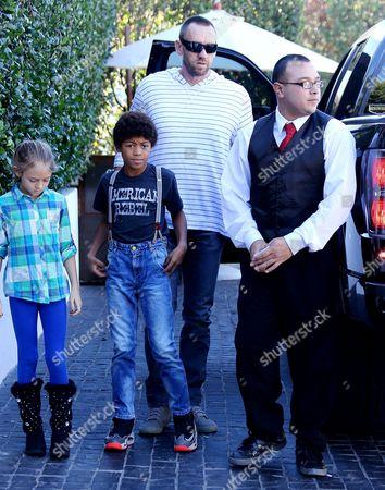 Martin Kristen with Henry Samuel and Leni Samuel